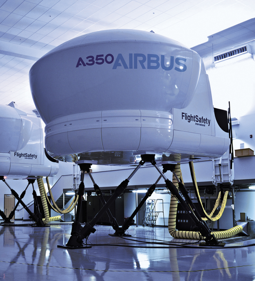 flightsafety delivers an airbus a350 xwb full flight. Black Bedroom Furniture Sets. Home Design Ideas